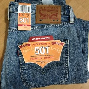 Men's Levi's 501 jeans warp stretch 32x43 NEW